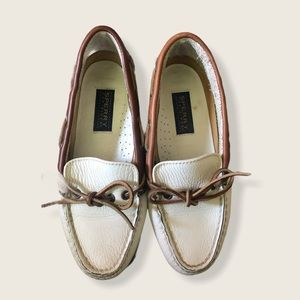 Sperry Off-White Top Sider Boat Shoes Size 5